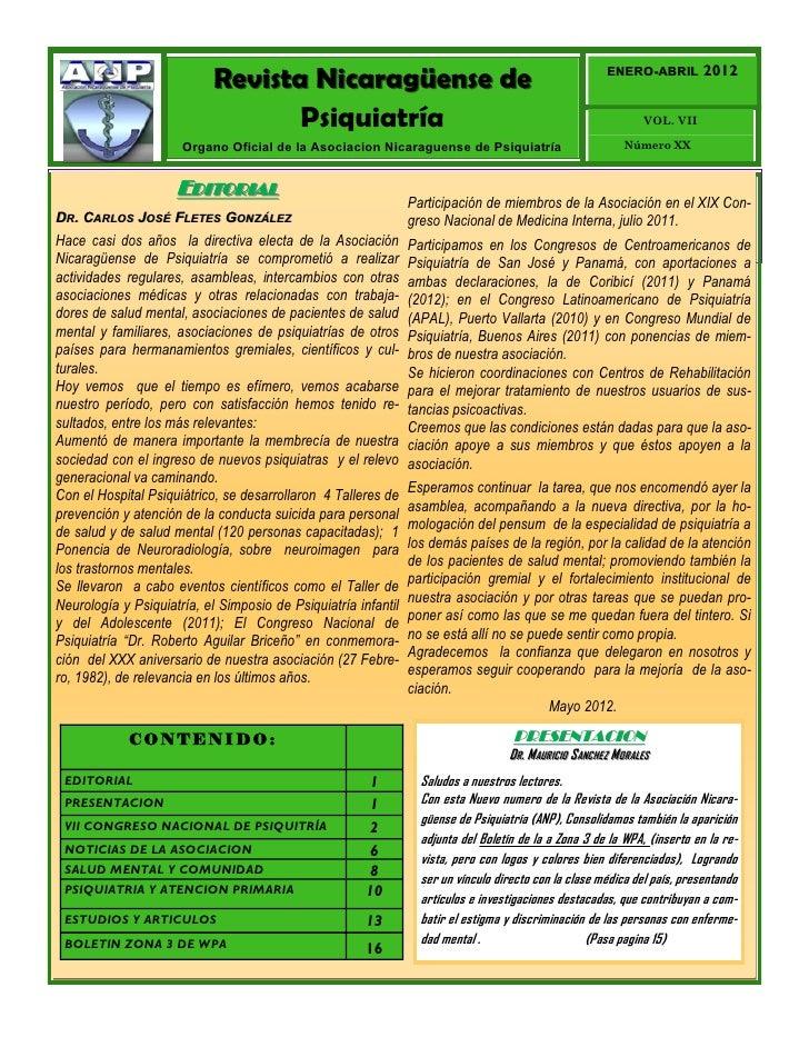 Revista Nicaragüense de                                                    ENERO-ABRIL                                    ...