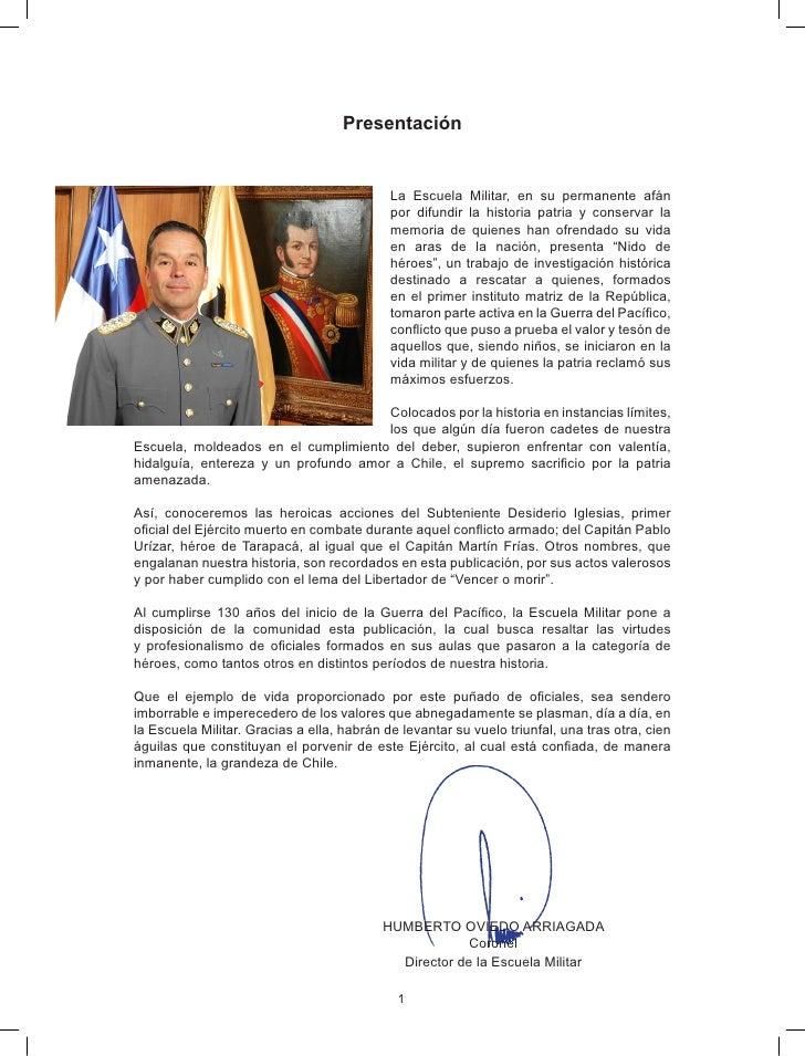 Presentación                                               La Escuela Militar, en su permanente afán                      ...