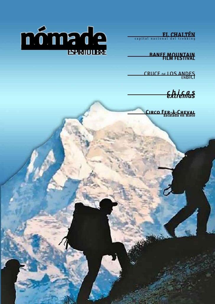 EL CHALTÉN capital nacional del trekking            BANFF MOUNTAIN              FILM FESTIVAL       CRUCE DE LOS ANDES    ...