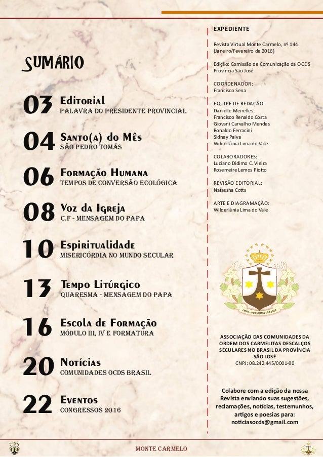 Revista Virtual Ocds - Monte Carmelo n° 144 - Brasil Slide 2