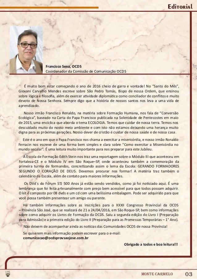 Revista Virtual Ocds - Monte Carmelo n° 144 - Brasil Slide 3