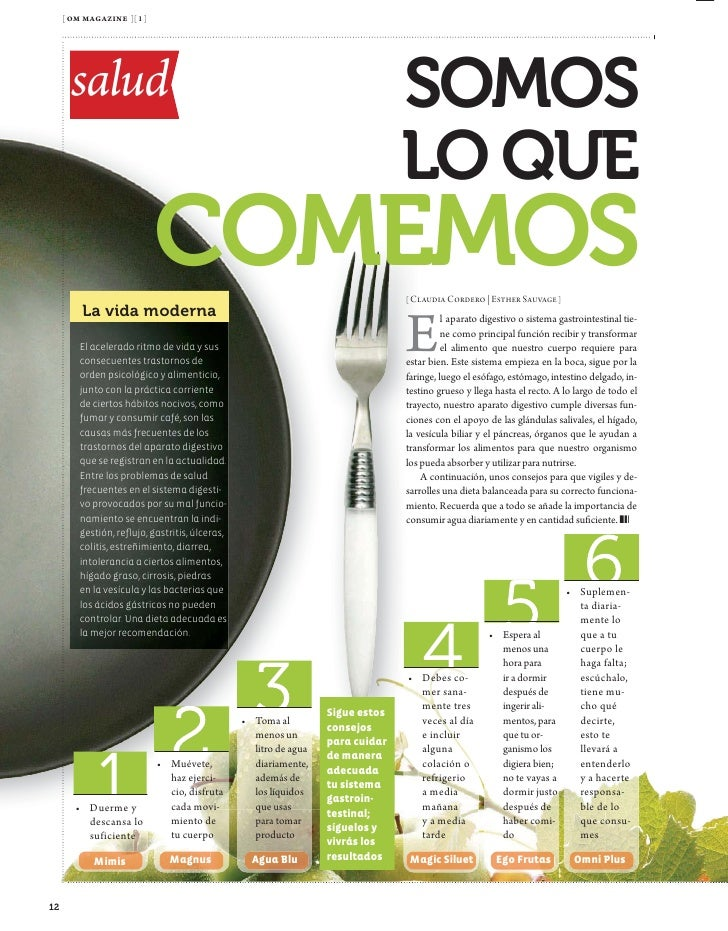 [ om magazine ][ 1 ]             Salud         salud                             ALIMENTA                 TU PIEL        [...
