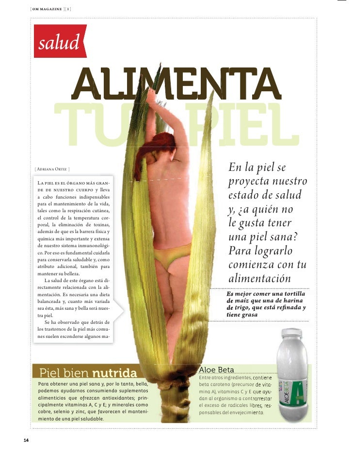 [ om magazine ][ 1 ]             Salud              los suplementos          alimenticios          nos darán las          ...