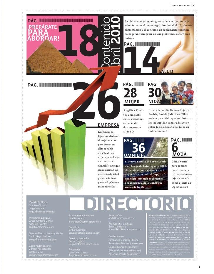 [ om magazine ][ 1 ]                                                         Angélica Fuentes                   No te qued...
