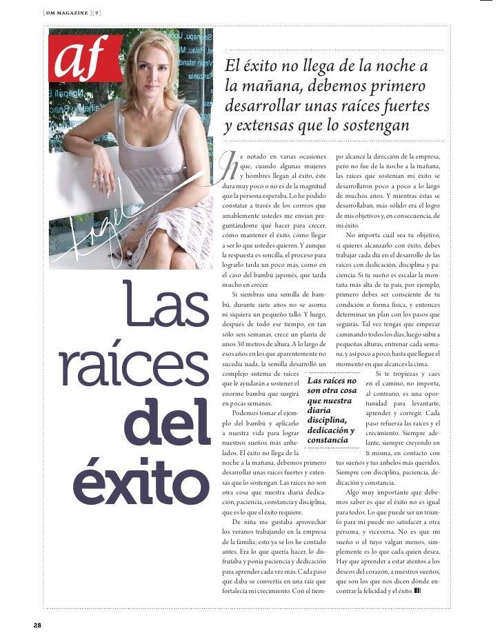 [ om magazine ][ 1 ]              vidas                 Vivir            con           plenitud              Abel Ramos y ...