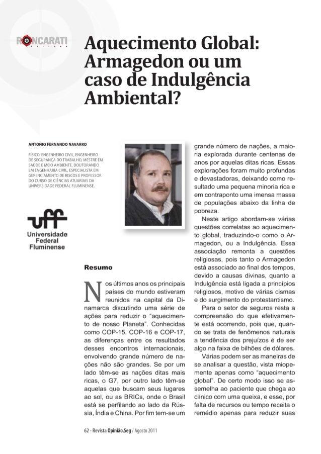 Revista Opinião.Seg - Aquecimento Global