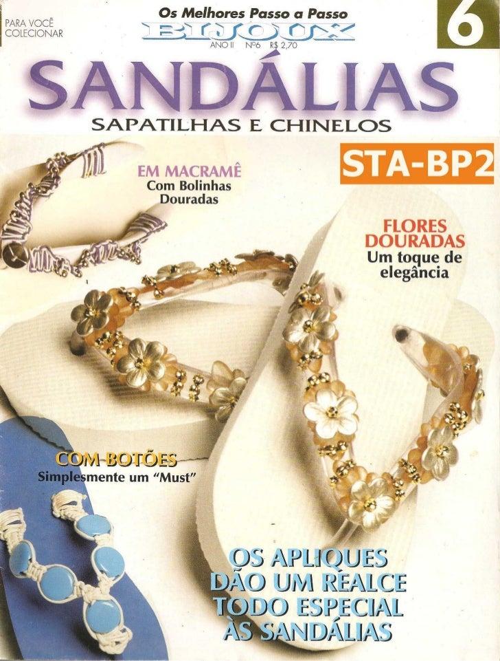 Revista os melhores passo a passo bijoux   sandálias, sapatilhas e chinelos - ano 2 - nº 6