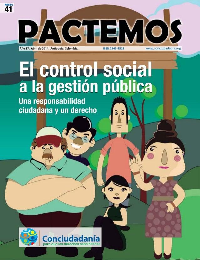 El control social a la gestión pública El control social a la gestión pública