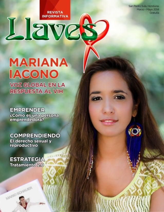San Pedro Sula,  Honduras Marzo - Mayo 2014 REVISTA Gratuita IN FORMATIVA ,   i 1.13'?  ._,   MARIANA JÏNACÓNO  ' voz CS, ...