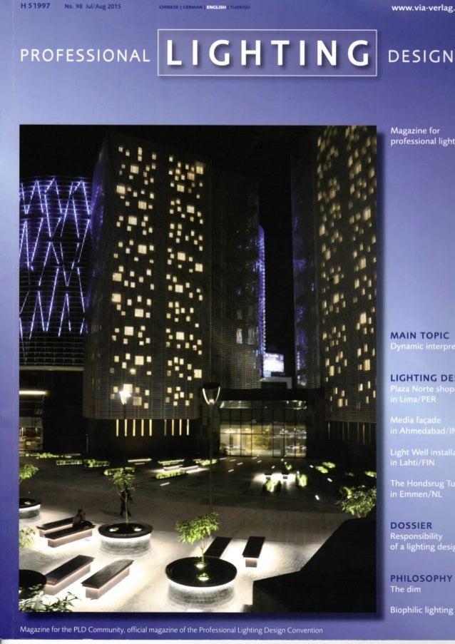 Light Garden in Professional Lighting Design Magazine