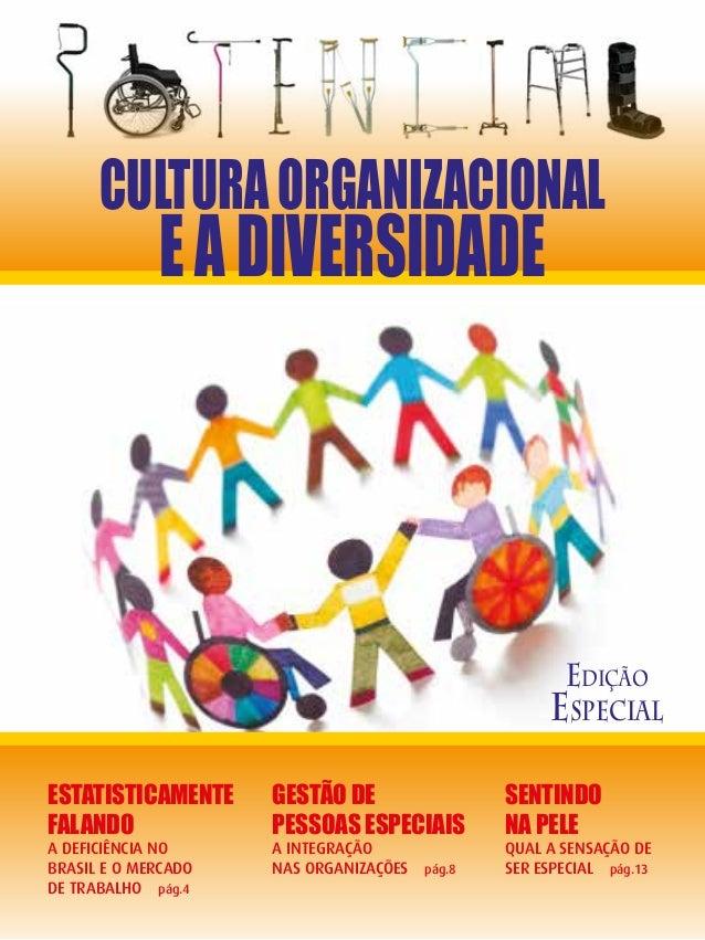 Edição Especial CULTURAORGANIZACIONAL EADIVERSIDADE Estatisticamente Falando A Deficiência no Brasil e o Mercado de Trabal...