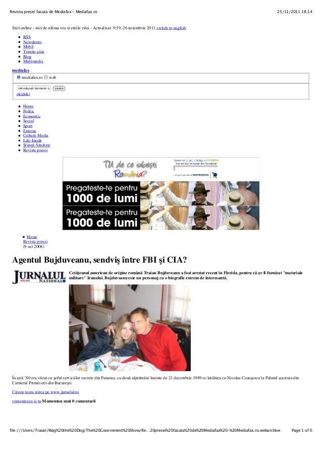 25/11/2011 18:14Revista presei facuta de Mediafax – Mediafax.ro Page 1 of 6file:///Users/Traian/Wag%20the%20Dog/The%20Gove...