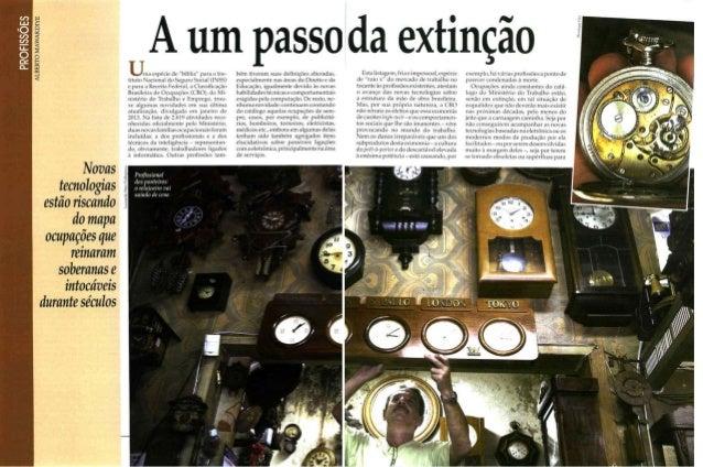 """Reportagem """"A um passo da extinção"""" - revista Problemas Brasileiros (mar14)"""