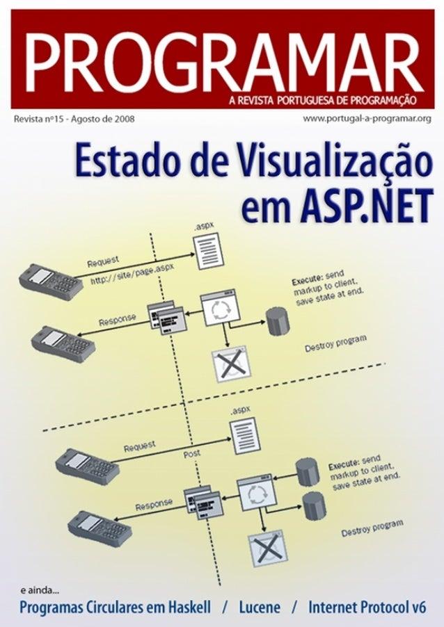 <2> editorial índice 3 4 7 19 23 24 27 notícias tema de capa - Estado de Visualização em ASP.NET a programar - Lucene: Pro...