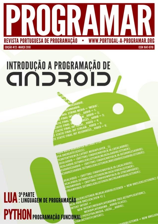 editorial índice 3  notícias/links  4  Que futuro?  snippets  7  10 14 18  tema de capa  -Introdução à Programação para An...