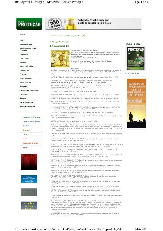 Home Revista Proteção Anuário Brasileiro de Proteção Assinatura Loja Virtual Notícias Índice de Matérias Eventos SST Prêmi...