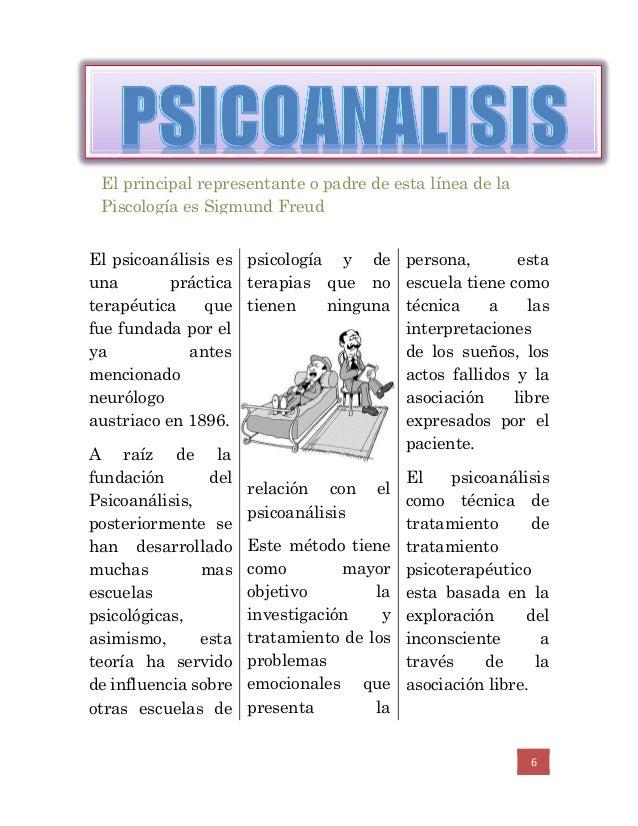 6 El psicoanálisis es una práctica terapéutica que fue fundada por el ya antes mencionado neurólogo austriaco en 1896. A r...