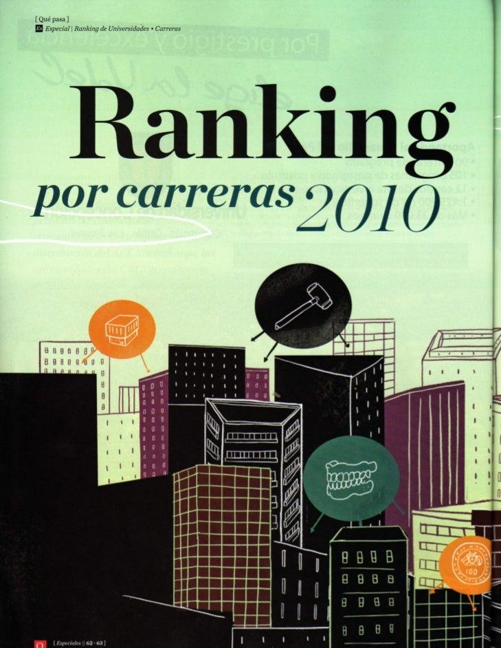 Revista qué pasa   ranking por CARRERAS 2010. (2de2)