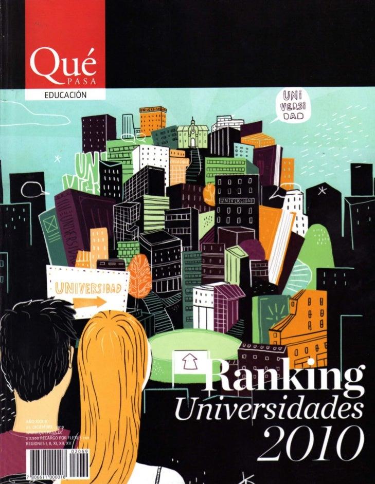 Revista qué pasa   ranking UNIVERSIDADES 2010. (1de2)