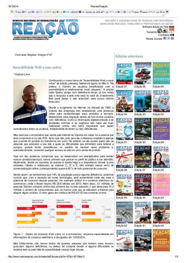 16/7/2014 Revista Reação http://www.revistareacao.com.br/website/Edicoes.php?e=97&c=9713&d=0 1/3 Info PR: n/a I: 304 L: 0 ...