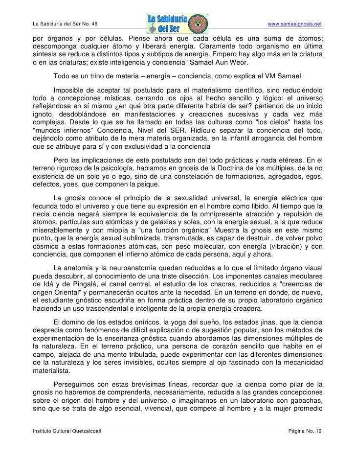 La Sabiduría del Ser No. 46                                                  www.samaelgnosis.net  por órganos y por célul...