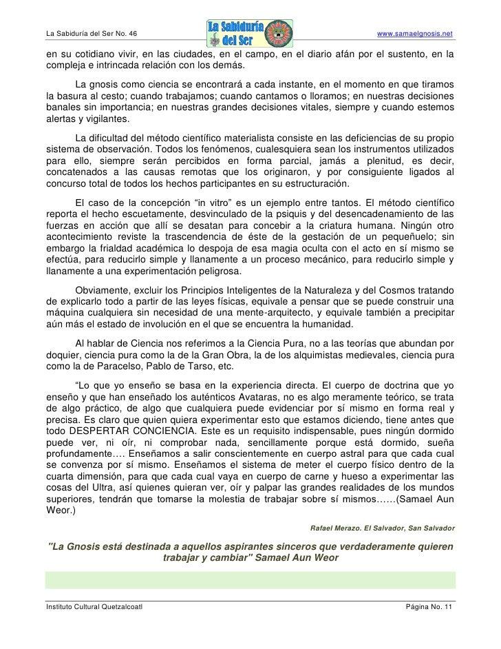 La Sabiduría del Ser No. 46                                                     www.samaelgnosis.net  en su cotidiano vivi...