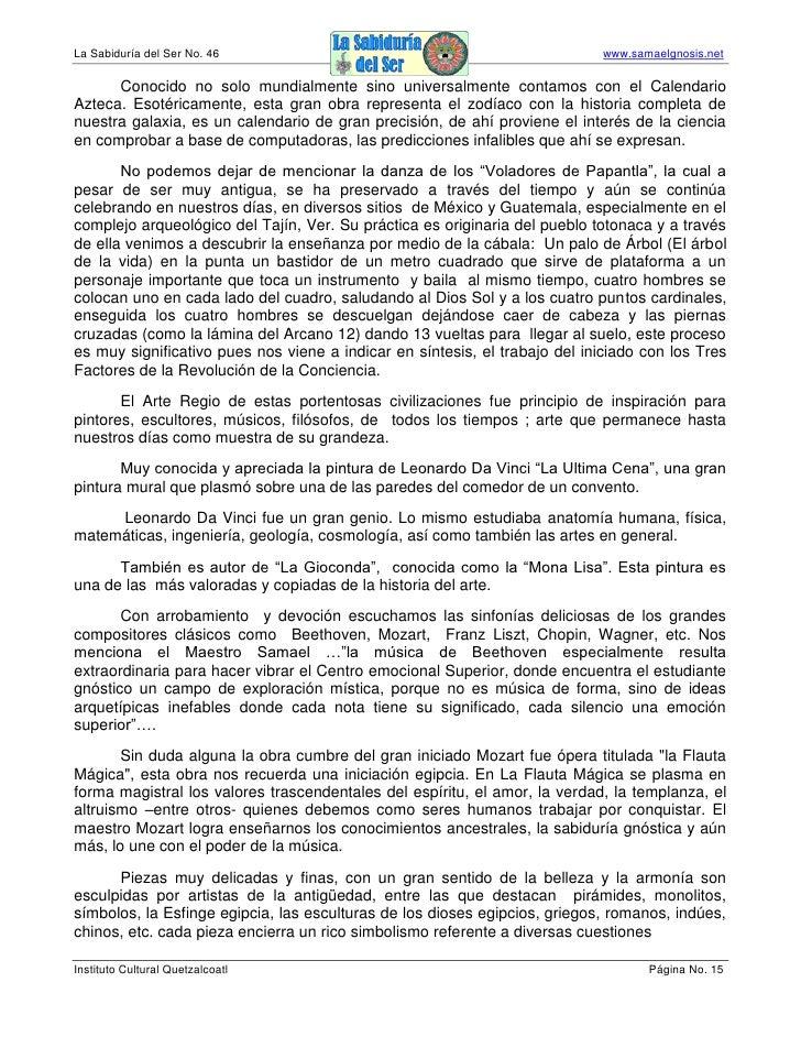 La Sabiduría del Ser No. 46                                                 www.samaelgnosis.net        Conocido no solo m...
