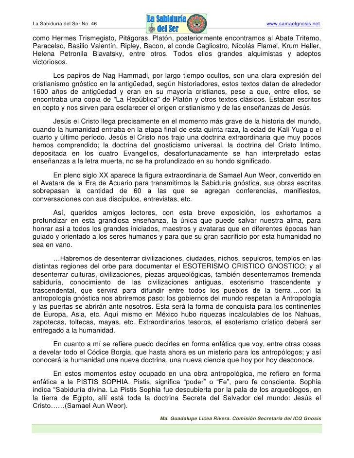 La Sabiduría del Ser No. 46                                                      www.samaelgnosis.net  como Hermes Trismeg...