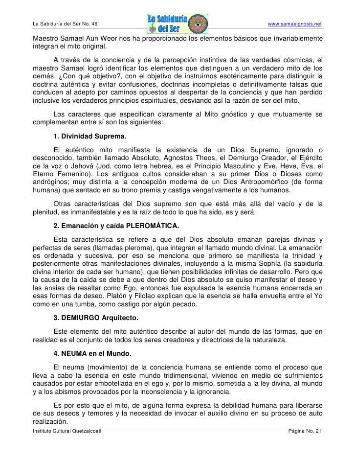 La Sabiduría del Ser No. 46                                                  www.samaelgnosis.net  Maestro Samael Aun Weor...