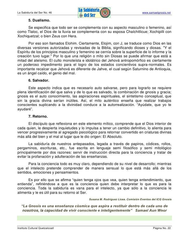 La Sabiduría del Ser No. 46                                                      www.samaelgnosis.net           5. Dualism...