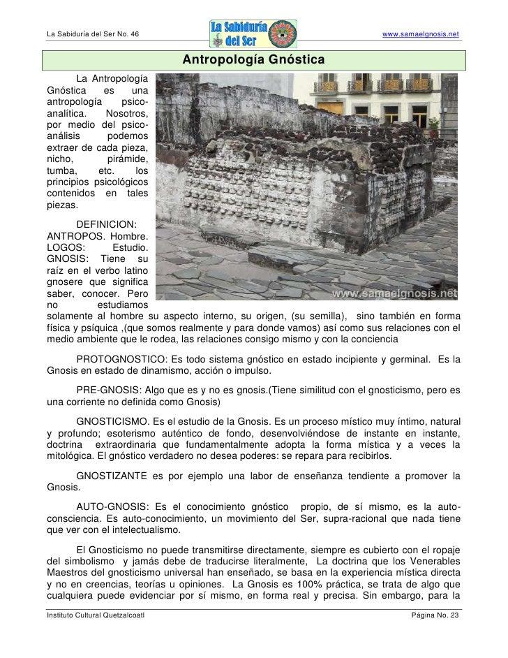 La Sabiduría del Ser No. 46                                              www.samaelgnosis.net                             ...