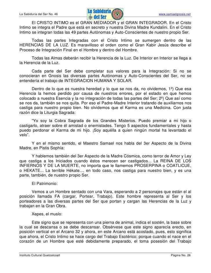 La Sabiduría del Ser No. 46                                                  www.samaelgnosis.net         El CRISTO INTIMO...