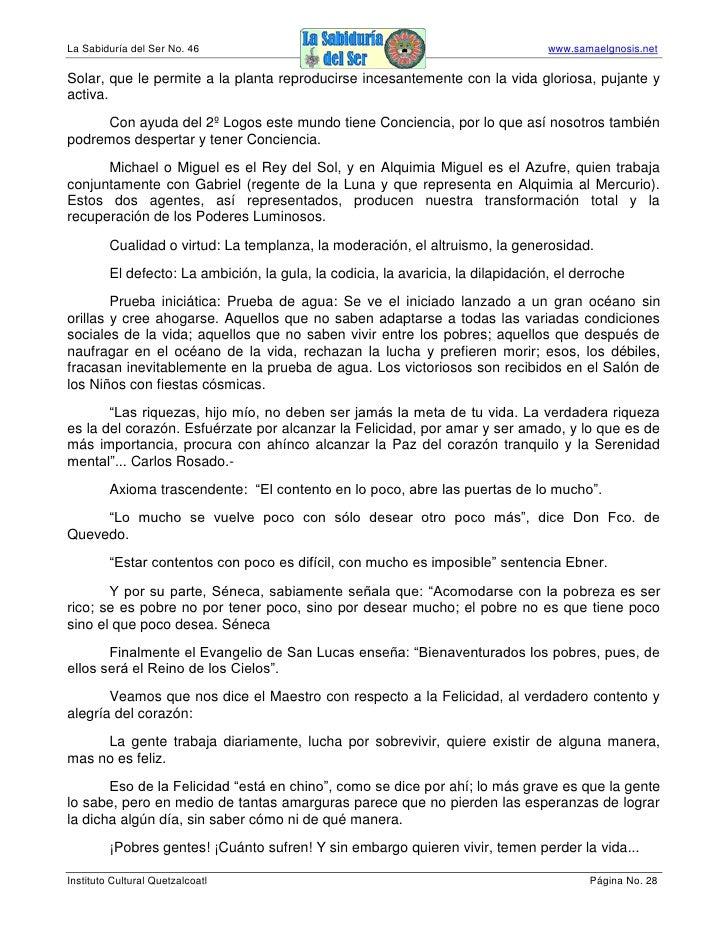 La Sabiduría del Ser No. 46                                                        www.samaelgnosis.net  Solar, que le per...