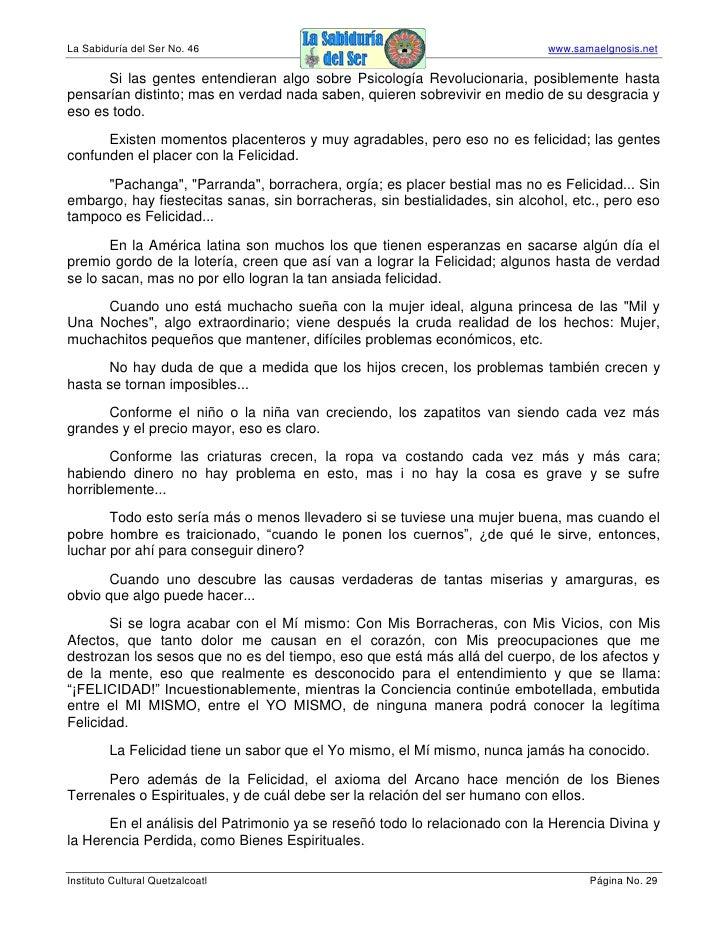 La Sabiduría del Ser No. 46                                                  www.samaelgnosis.net        Si las gentes ent...