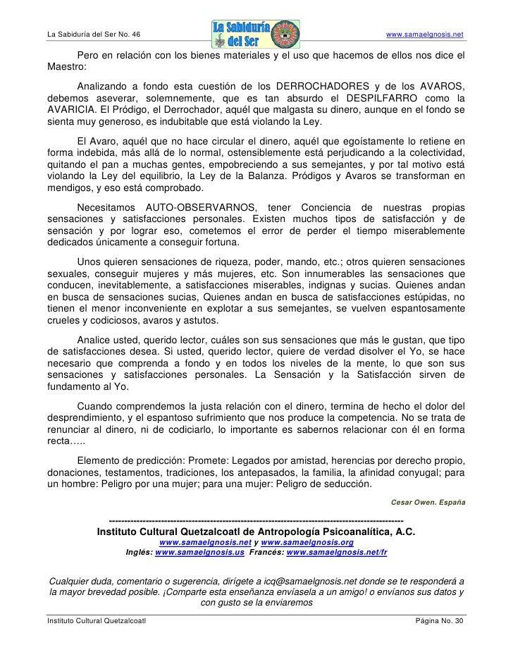 La Sabiduría del Ser No. 46                                                                                  www.samaelgno...