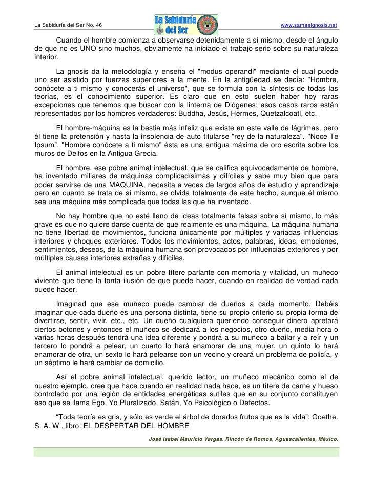 La Sabiduría del Ser No. 46                                                         www.samaelgnosis.net          Cuando e...