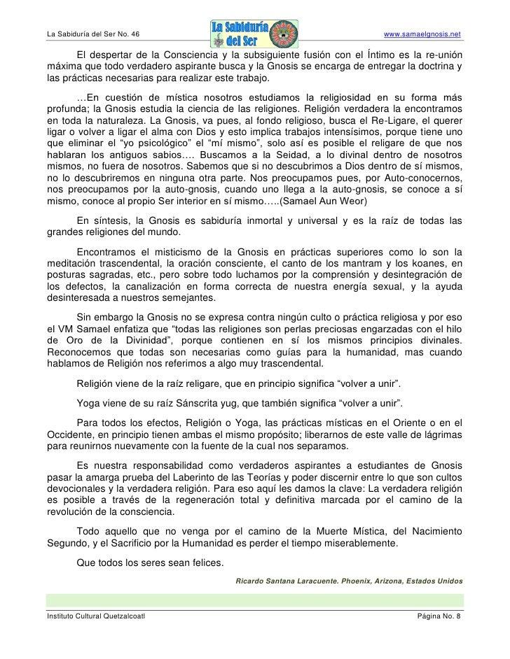 La Sabiduría del Ser No. 46                                                           www.samaelgnosis.net         El desp...