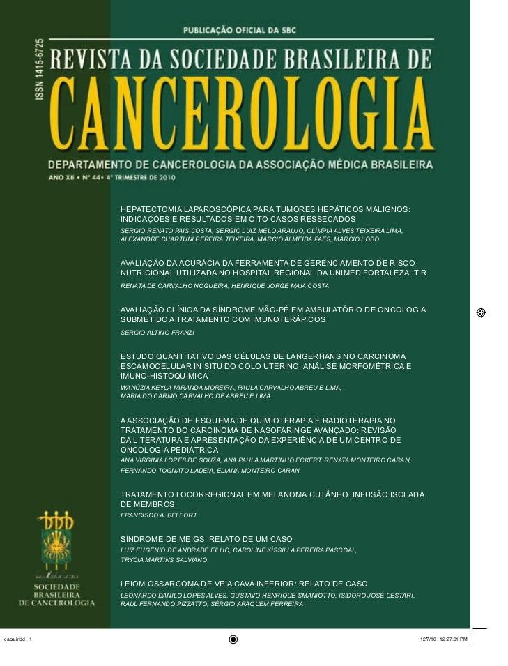 Hepatectomia laparoscópica para tumores hepáticos malignos:              indicações e resultados em oito casos ressecados ...
