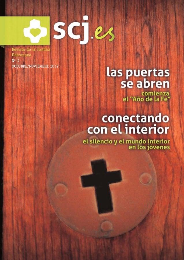 NUMERO 4:Maquetación 1 29/10/12 13:50 Página 1      Revista de la Familia      Dehoniana      Nº 4      OCTUBRE/NOVIEMBRE ...