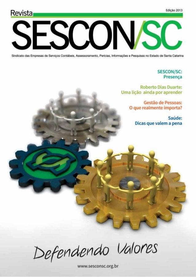 2  Revista Sescon/SC 2013