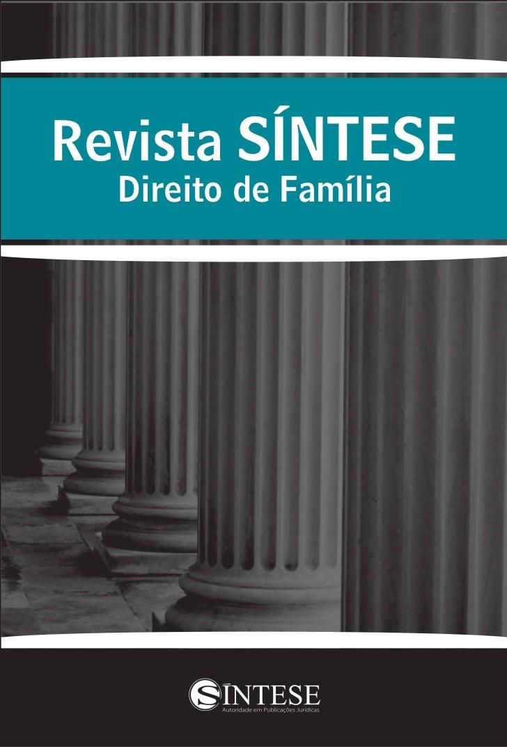 Revista SÍNTESE  Direito de Família