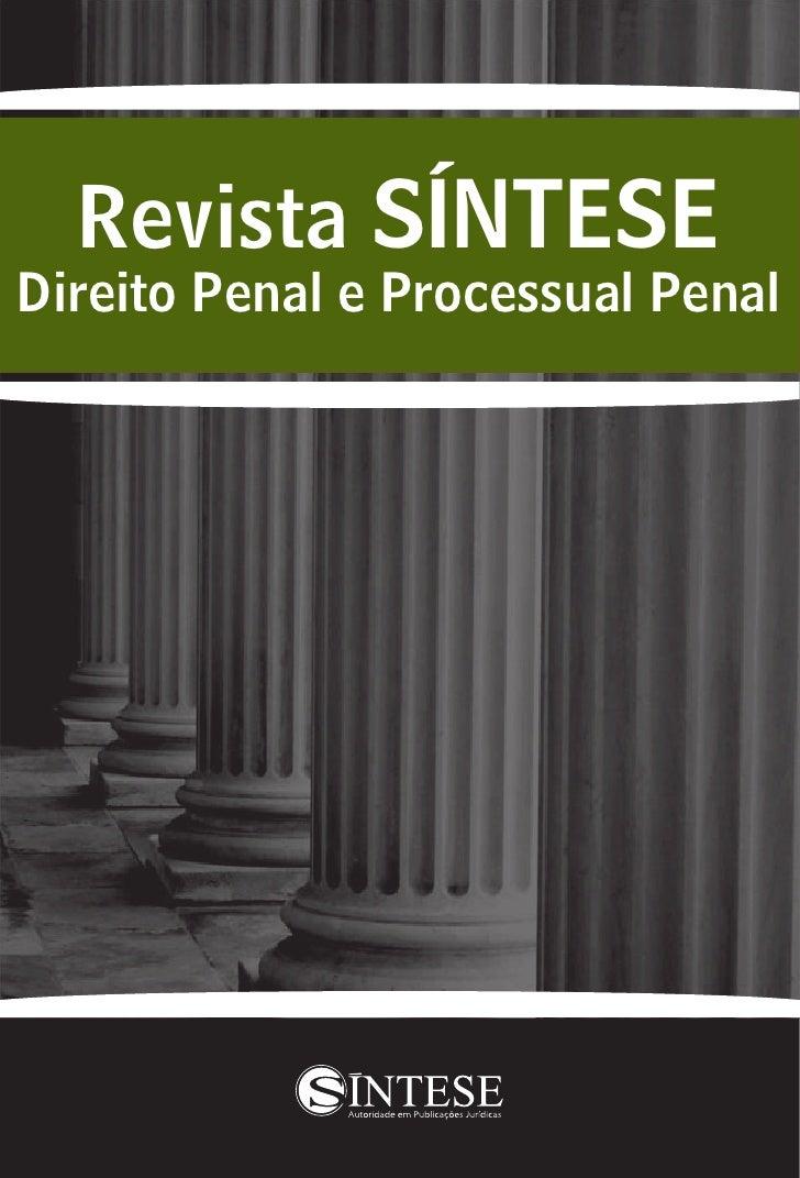 Revista SÍNTESE Direito Penal e Processual Penal