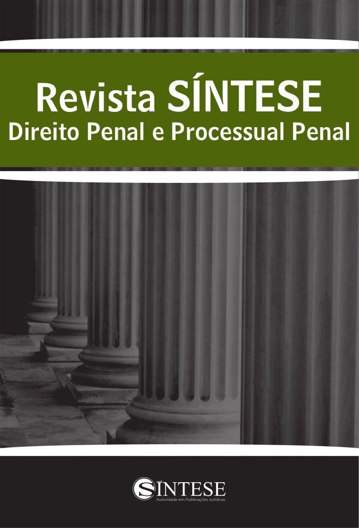 Revista SÍNTESEDireito Penal e Processual Penal