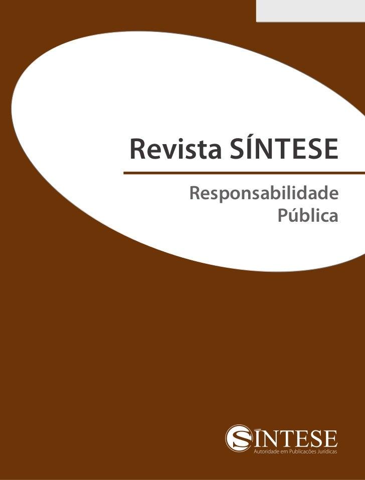 Revista SÍNTESE    Responsabilidade             Pública