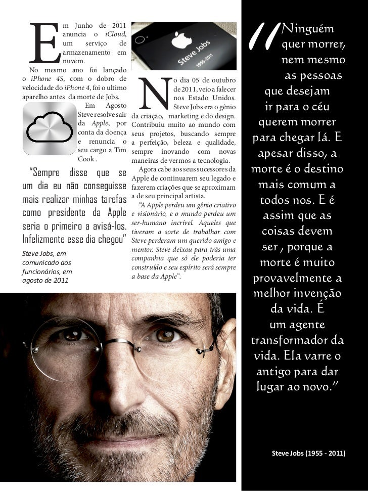 Tag Frase Do Steve Jobs Antes De Morrer