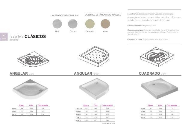 Platos de ducha textura pizarra - Medidas de los platos de ducha ...