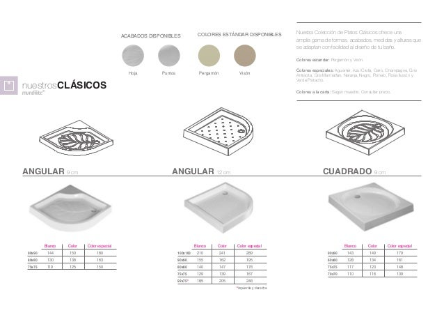 Platos de ducha textura pizarra - Medidas de plato de ducha ...