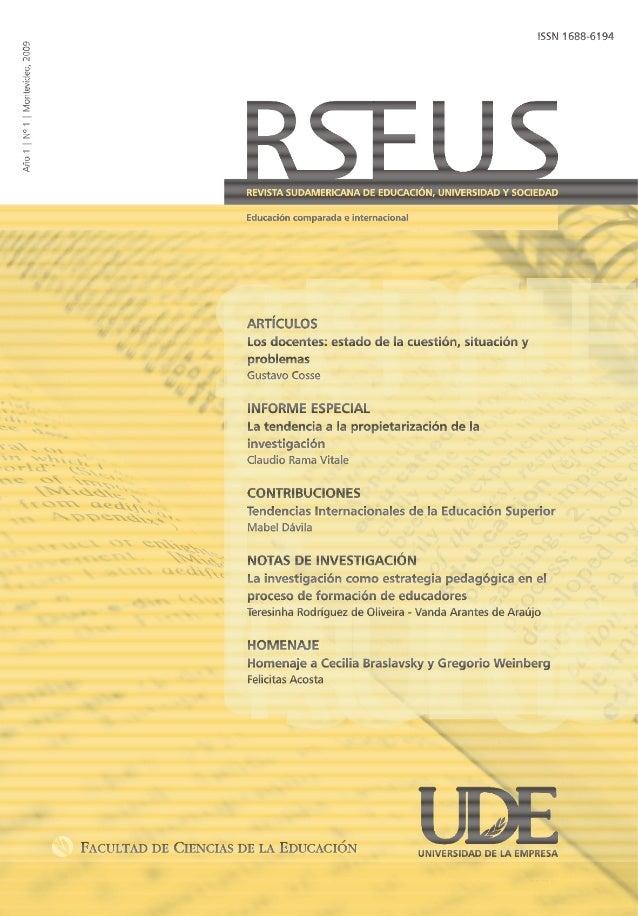 Revista sudamericana de educación universitaria y sociedad