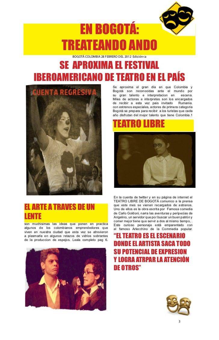 EN BOGOTÁ:                      TREATEANDO ANDO                             BOGOTÁ COLOMBIA 28 FEBRERO DEL 2012 Edición<a ...