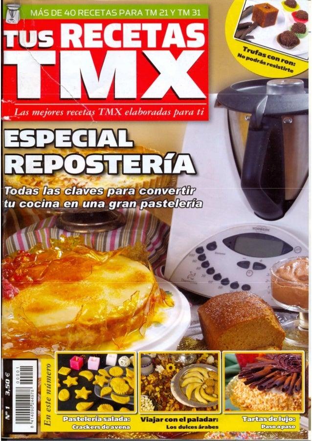 Revista Thermomix Tus Recetas Tmx N01 Reposteria